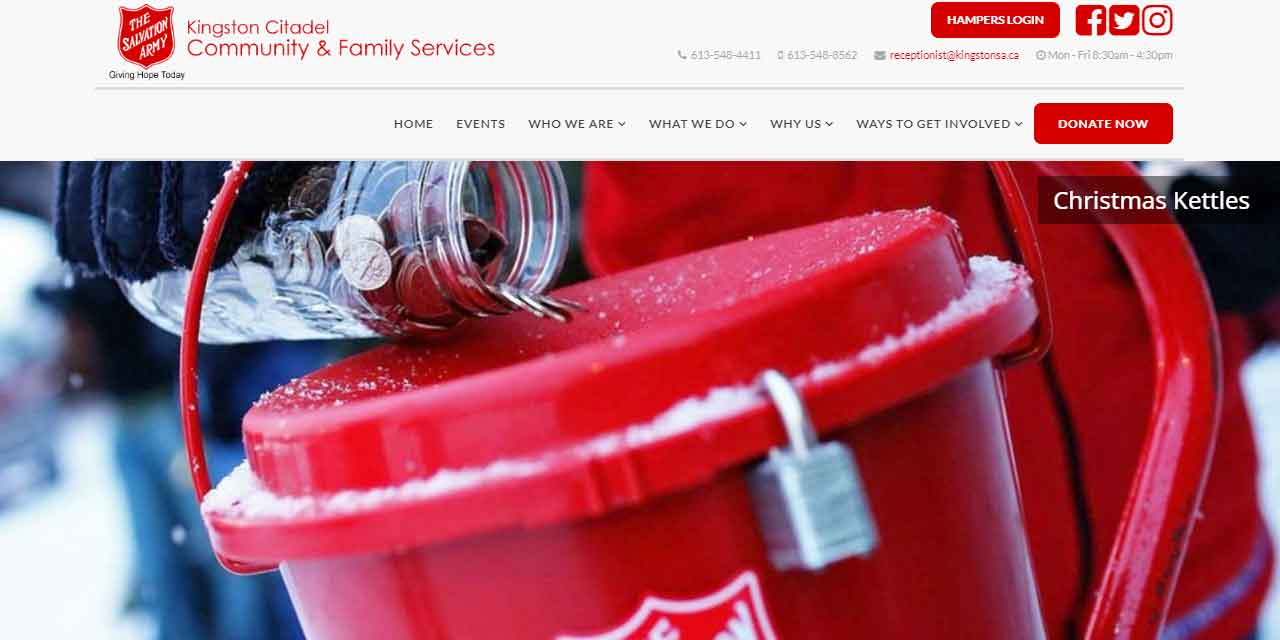 Portfolio   Salvation Army