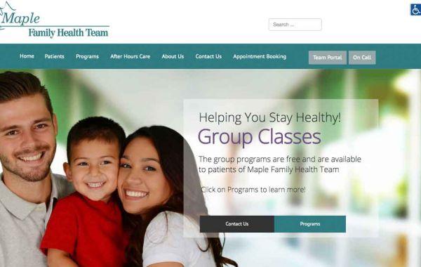 Maple Family Health Team | Portfolio