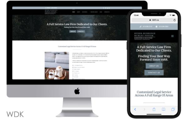 Ryder-Burbidge Hurley Foster Website Preview