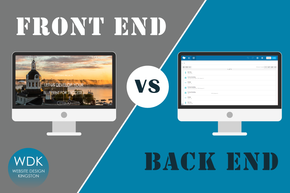 difference between front and back end development